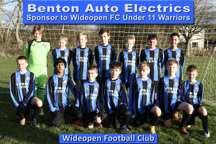 U11 Warriors Sponsor Benton Auto Electrics